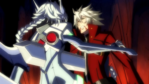 BlazBlue anime Ragna vs Nu
