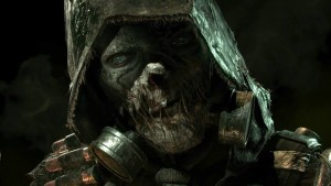 Scarecrow looks a little like a Mortal Kombat character in this. Just...roll with it.