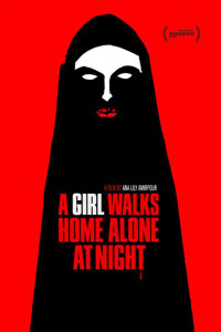 a girl home alone at night