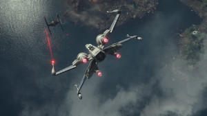 These battles play nothing like the X-Wing Miniatures game...