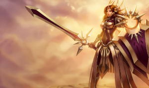 league leona splash art