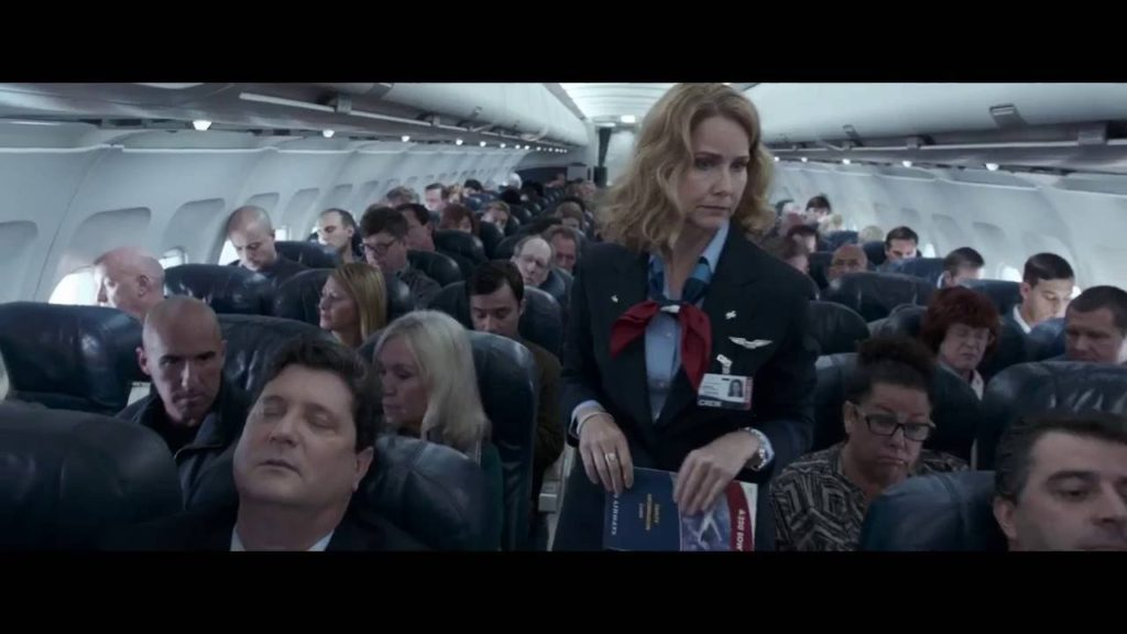 Also those actresses playing the flight attendants need a little nod for actually acting like real flight attendants.